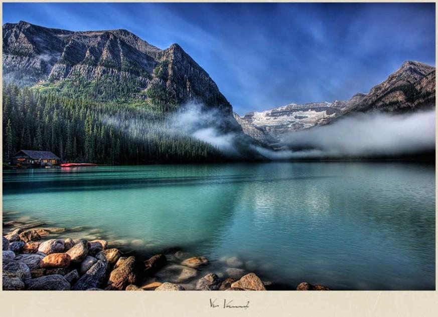 Lake Louise at sunrise, Banff National Park, Canada