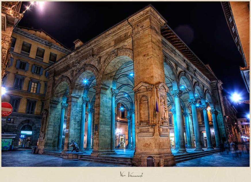 Opera at the Loggia del Mercato Nuovo in Florence, Italy