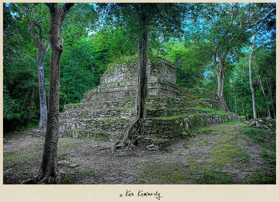 Chunyaxché Mayan Ruins at Muyil, Mexico