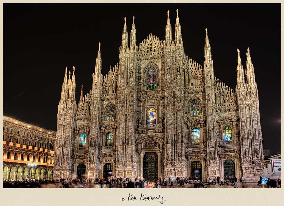 The Duomo at night, Milan