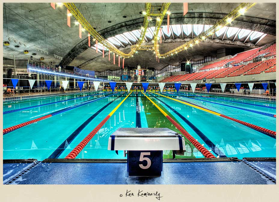 Olympic Aquatic Centre in Montreal
