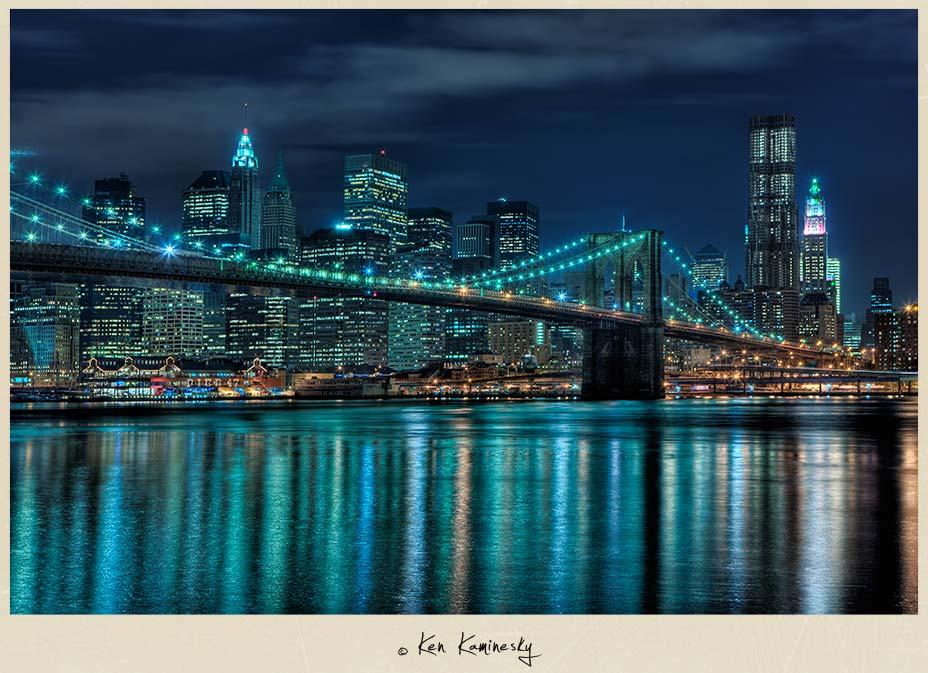 Blog Nyc Brooklyn Bridge And Downtown At Night 0012brooklyn