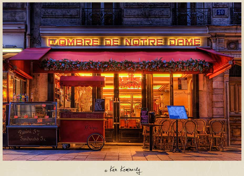 L ombre de notre dame restaurant in paris france for Restaurant cuisine francaise paris