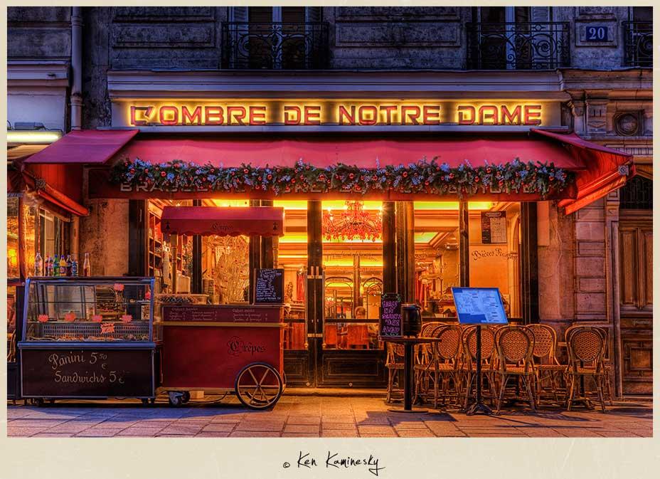 L'ombre de Notre Dame Restaurant in Paris