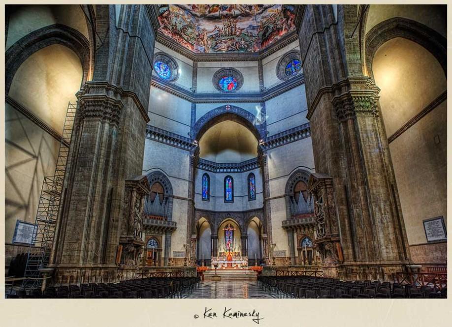 Inside the Basilica di Santa Maria del Fiore, Florence, Italy