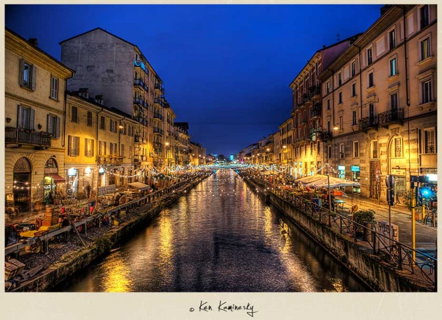The Navigli or Canals of Milan, Italy