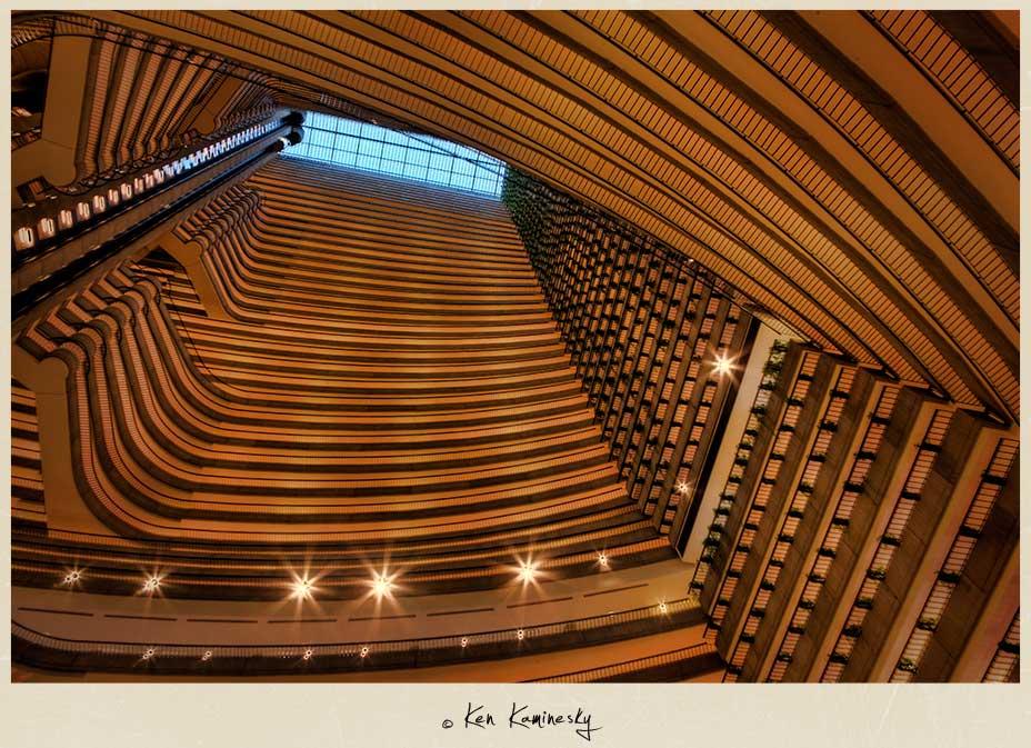 Interior of the Atlanta Mariott Hotel
