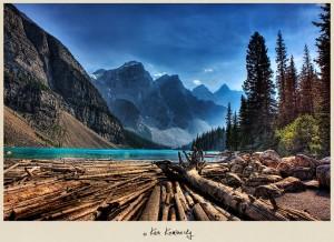Lake Moraine in Alberta