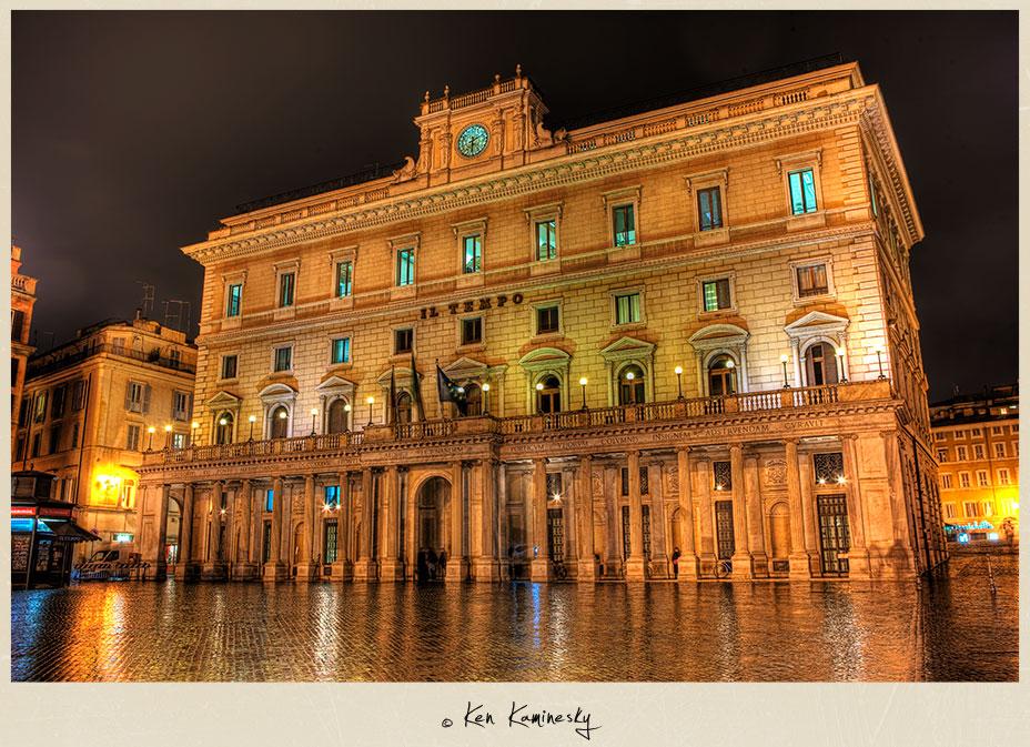 Il Tempo Newspaper headquarters in Rome
