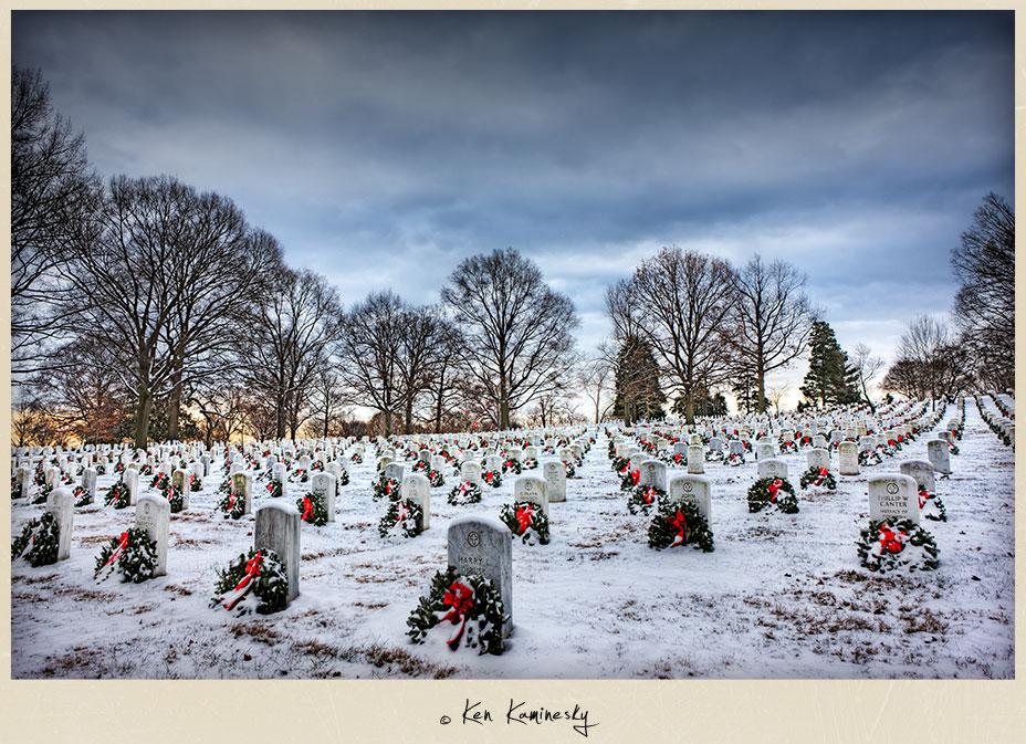 Wreaths Across America at Arlington cemetery