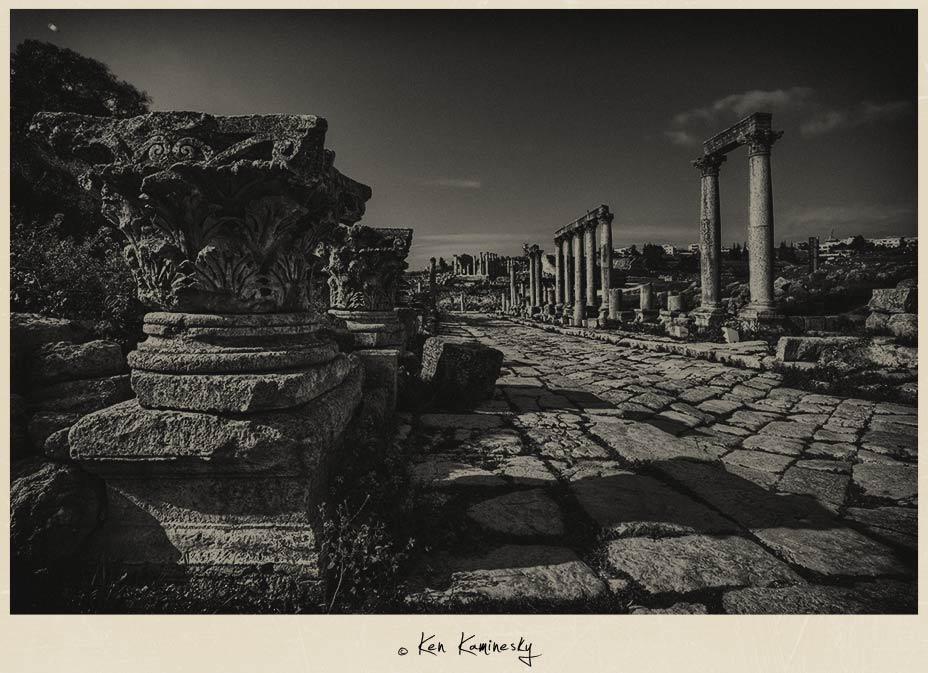 Colonnaded Street in Jerash
