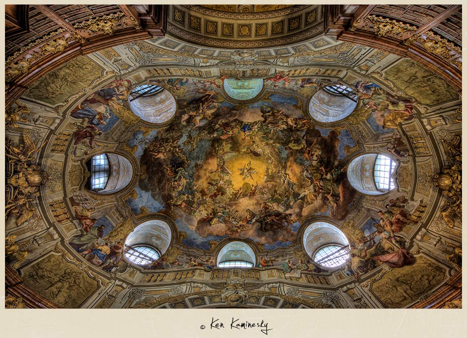 Fresco Central Dome Vienna-Austrian-National-Library