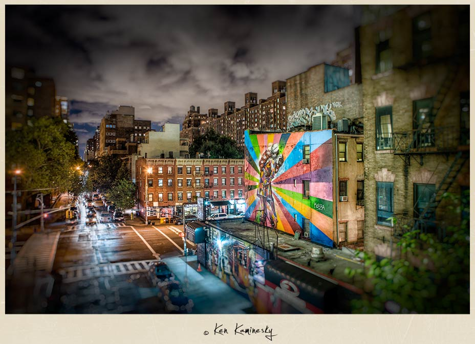 Mural in Chelsea as seen from NYC's High Line