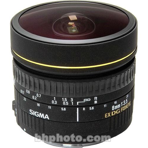 Sigma Fisheye 8mm f/3.5 EX DG Circular Fisheye Autofocus Lens