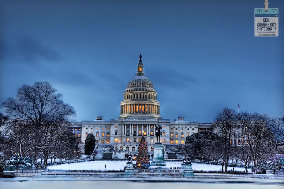 the us capitol at christmas - Christmas In Washington
