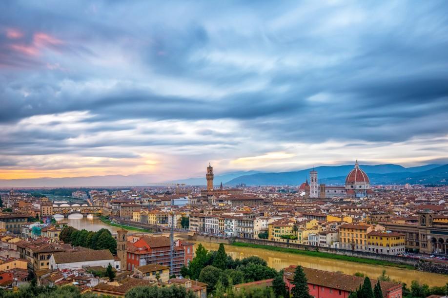 Florence as seen from Piazalle Michelangelo © Jason Arney