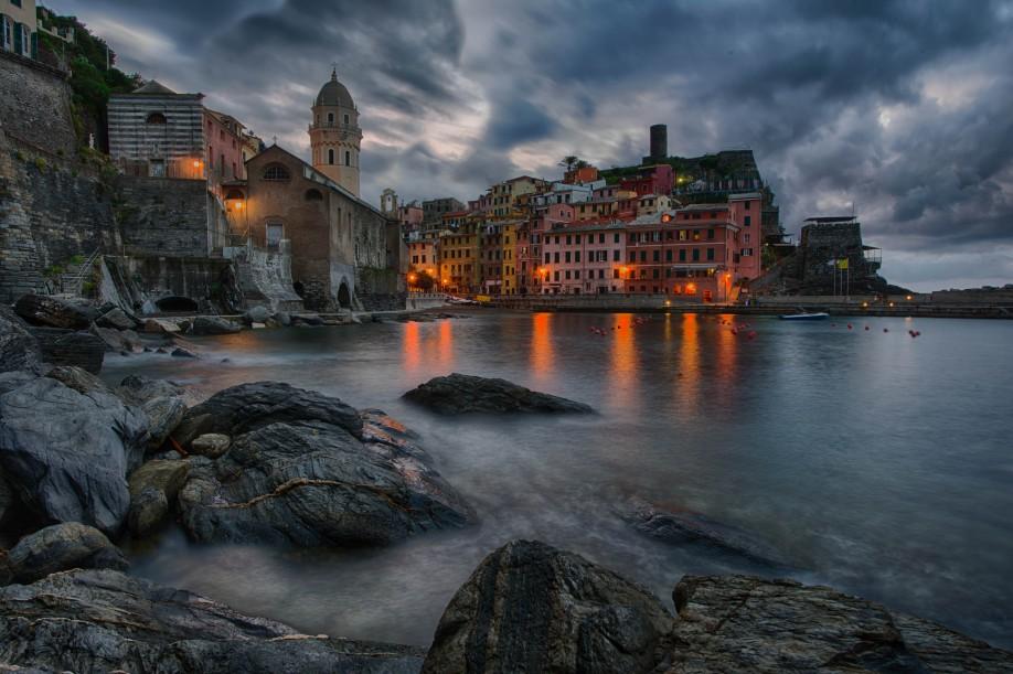 Twilight in Cinque Terre © Kathy Vick
