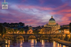 St. Peter's in Vatican City at sunset