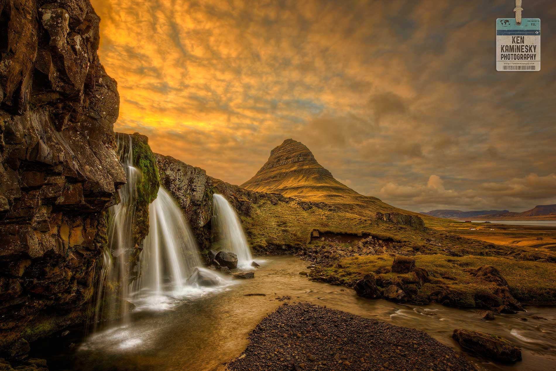 Kirkjufelfoss waterfalls in Iceland