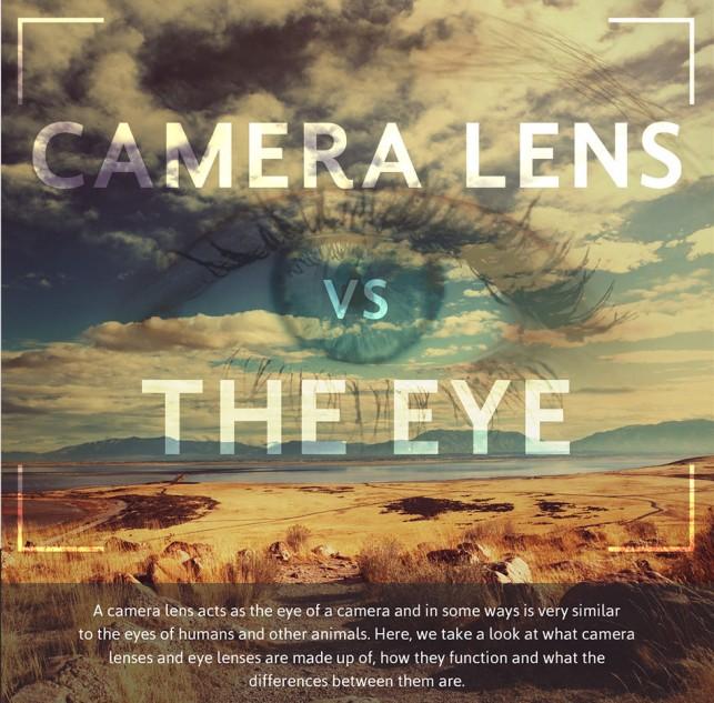 Camera Lens vs Human Eye – Infographic