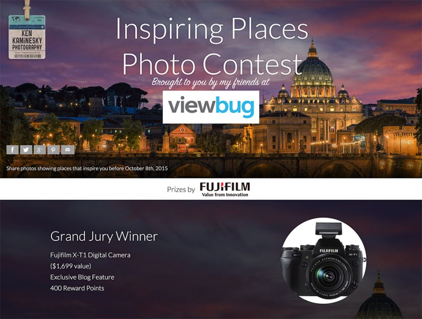 Inspiring Places Photo Contest