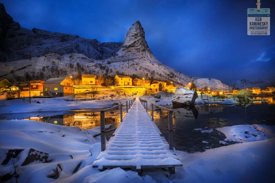 Lofoten at blue hour